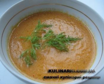 суп пюре з гарбуза рецепты