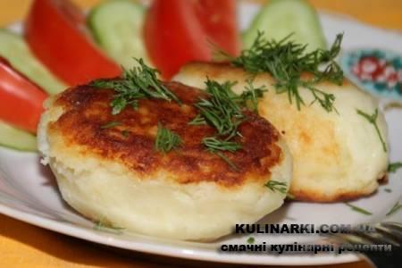 Картопляні котлети з сиром