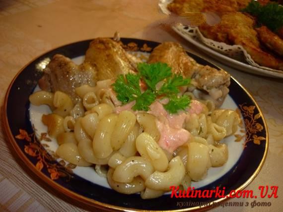 Макароны с куриными бедрами в духовке рецепт
