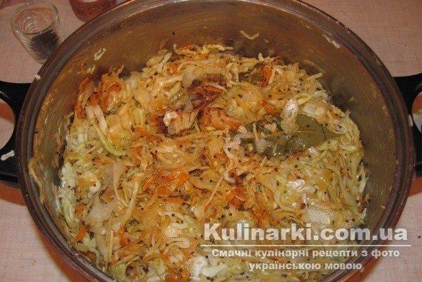 капуста тушеная в сковороде пошаговый рецепт